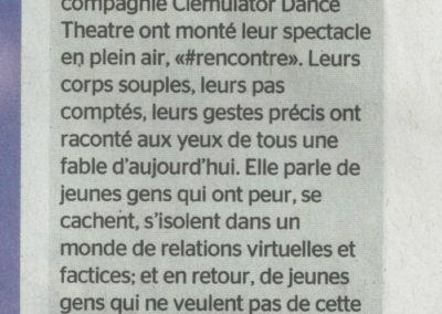 Promenade onirique sous le soleil exactement – Tribune de Genève – mai 2016
