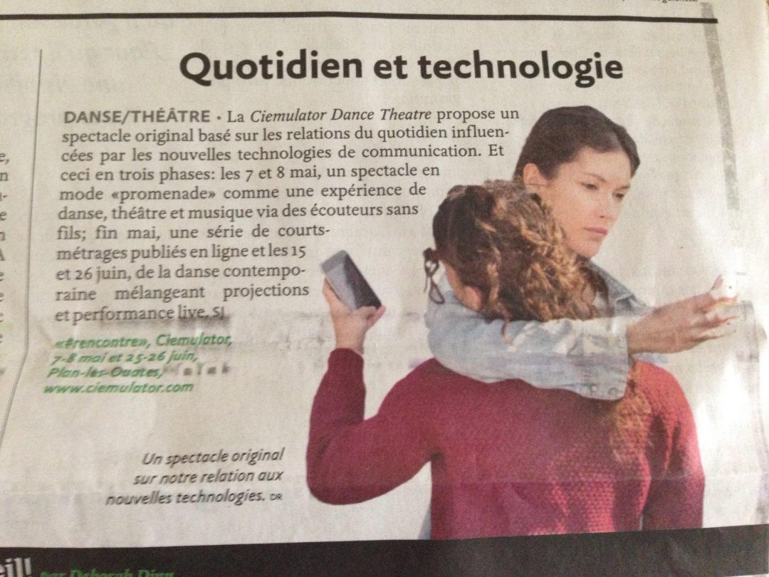 Quotidien et technologie – le GHI – mai 2016
