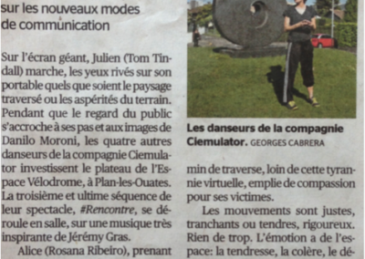 #rencontre – Tribune de Genève – May 2016